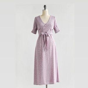 Lavender Wrap Midi Dress